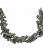 Kerstguirlande met blaadjes 180 cm