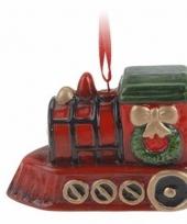 Kersthanger kerst trein 8 cm