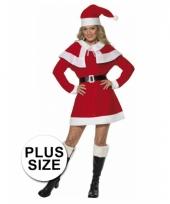 Kerstjurk rood dames plus size