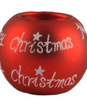 Kerstkaars houder merry christmas