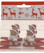 Kerstknijper met beer 4x 10074592