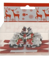 Kerstknijper met sneeuwman 4x 10074587