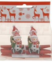 Kerstknijper met sneeuwman 4x