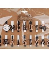 Kerstknijpers goud met wit en zwart