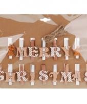 Kerstknijpers koper met wit