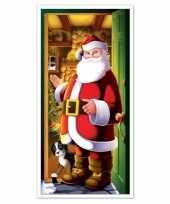 Kerstman deurversiering 152 cm