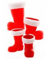 Kerstman laars 14 cm van plastic