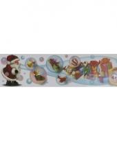 Kerstman met bellenblaas kerststicker