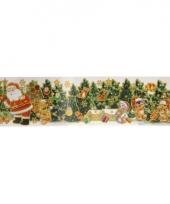 Kerstman met bomen kerststicker