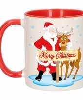 Kerstmis mok rudolph en santa 300 ml