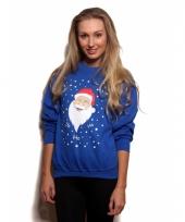 Kerstmis trui blauw ho ho ho