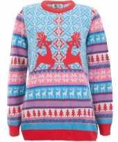 Kerstmis trui dancing stags voor vrouwen