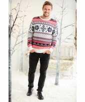 Kerstmis trui met noorse print