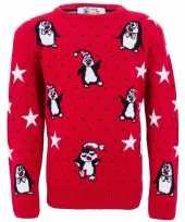 Kerstmis trui met pinguins voor meiden