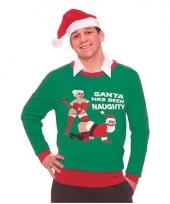 Kerstmis trui naughty santa