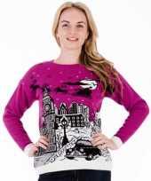 Kerstmis trui pink london voor vrouwen