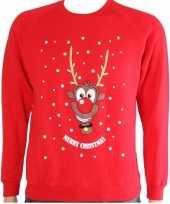 Kerstmis trui rood met rendier