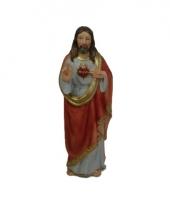 Kerststal beeldje jezus met hart 20 cm