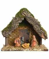 Kerststallen inclusief kerstfiguren 23 cm
