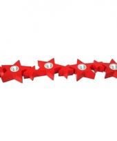 Kerstster dinerkaarsen houder rood 35 cm