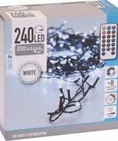 Kerstverlichting inclusief afstandsbediening helder wit 240 lichtjes
