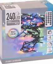Kerstverlichting inclusief afstandsbediening kleur 240 lichtjes