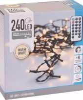 Kerstverlichting inclusief afstandsbediening warm wit 240 lichtjes