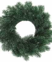 Kerstversiering kerstkransen dennenkransen 35 cm blauwspar dennentakken