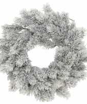 Kerstversiering kerstkransen dennenkransen 35 cm dennentakken kunstsneeuw