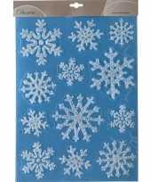 Kerstversiering raamstickers ijssterren plaatjes 30 x 40 cm