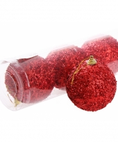Kerstversiering rode kerstballen 10065741
