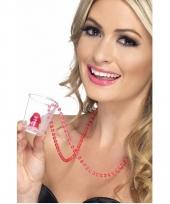 Ketting transparant shotglas vrijgezellenfesst