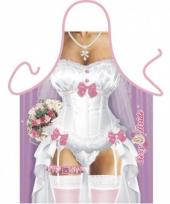 Keukenschort bruid