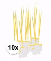 Keycord incl badgehouder voor aan een keycord geel 11 2 x 58 cm 10089819