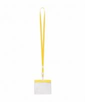 Keycord incl badgehouder voor aan een keycord geel 11 2 x 58 cm
