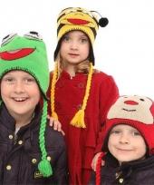 Kikker sherpa muts voor kinderen