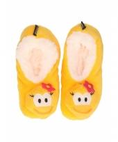 Kinder eend pantoffels geel