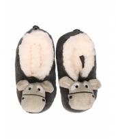 Kinder ezel pantoffels grijs