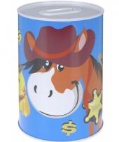 Kinder spaarpot sheriff paard
