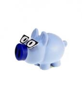 Kinder spaarpot varkentje blauw 10081777