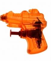 Kinder speelgoed mini waterpistool oranje
