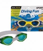 Kinder sport zwembril groen 3 8 jaar