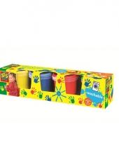Kinder vingerverf 4 kleuren