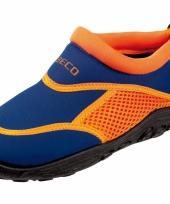 Kinder waterschoen blauw oranje