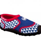 Kinder waterschoen blauw rood 10054288