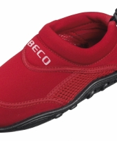 Kinder waterschoen blauw rood