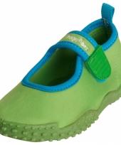 Kinder waterschoen groen met klittenband