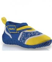 Kinder waterschoenen blauw geel