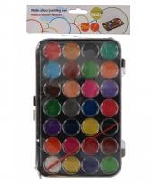 Kinder waterverf setje van 28 kleuren