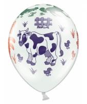 Kinderboerderij ballonnen 6 stuks